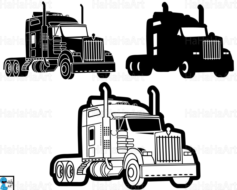 18 Wheeler Truck Clipart.