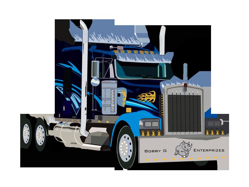 Peterbilt Truck driver Car Driving.