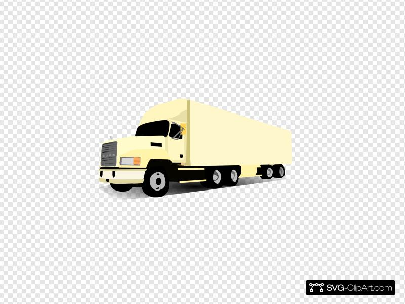 18 Wheeler Truck Clip art, Icon and SVG.