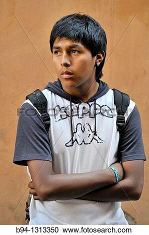 Stock Photography of 18 year old Bolivian boy b94.