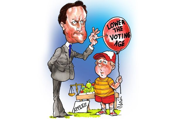 Nelson\'s Column: David Cameron should give 16 year olds a.