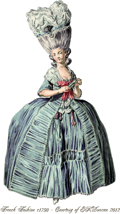 early 18th century womens fashion
