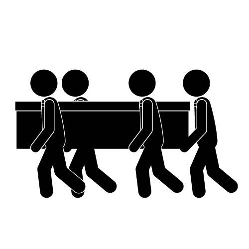 1800 funeral carriage clipart.