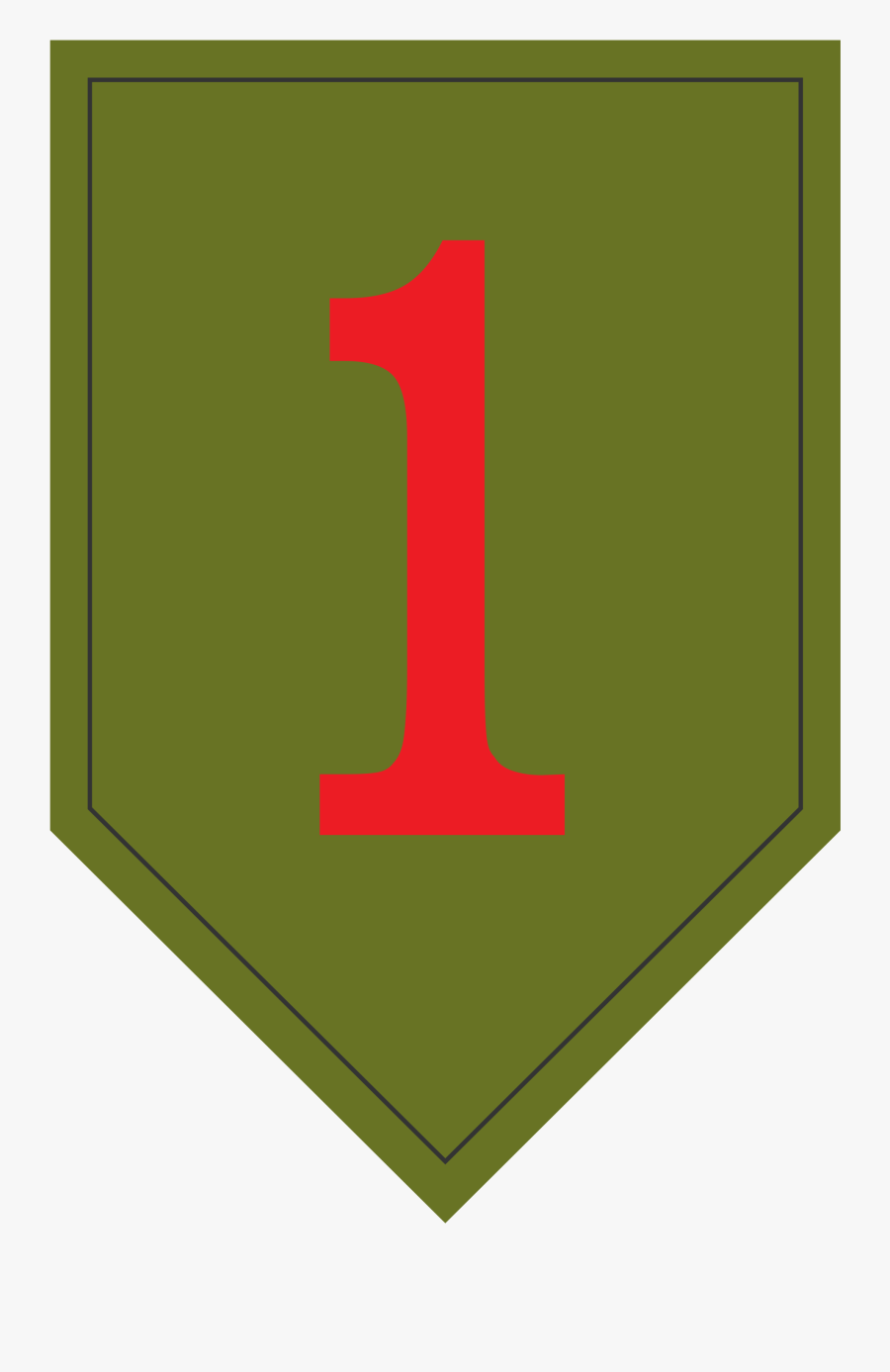 First Infantry Division Logo , Free Transparent Clipart.