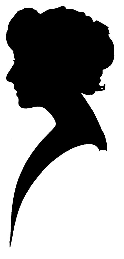 Old Fashion Silhouette Clip Art.