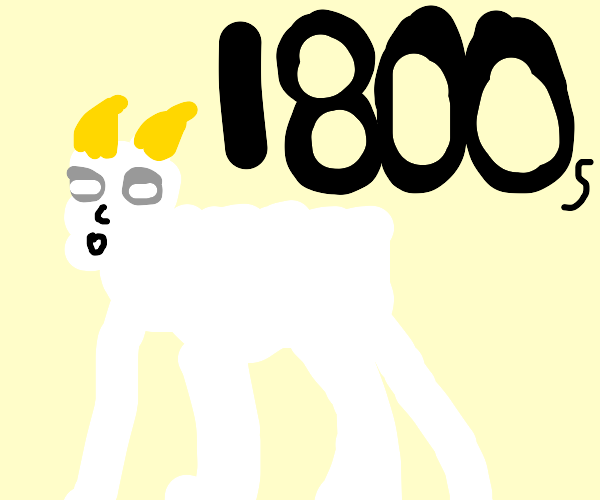 Goat from the 1800s.