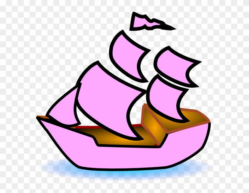 Sailboat Clipart Pink Boat.