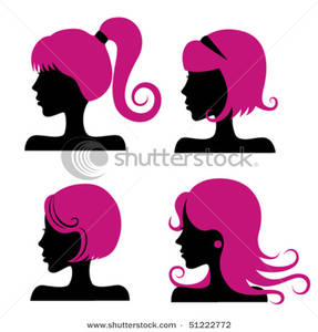 Pink Wigs Clipart Picture.