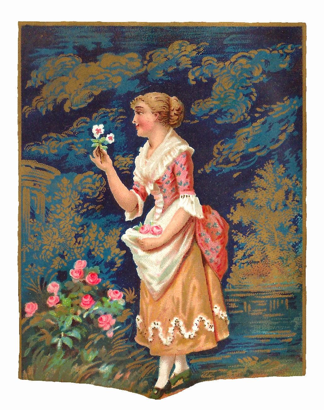 Antique Images: Free Antique Fashion Clip Art: Pretty Woman in.