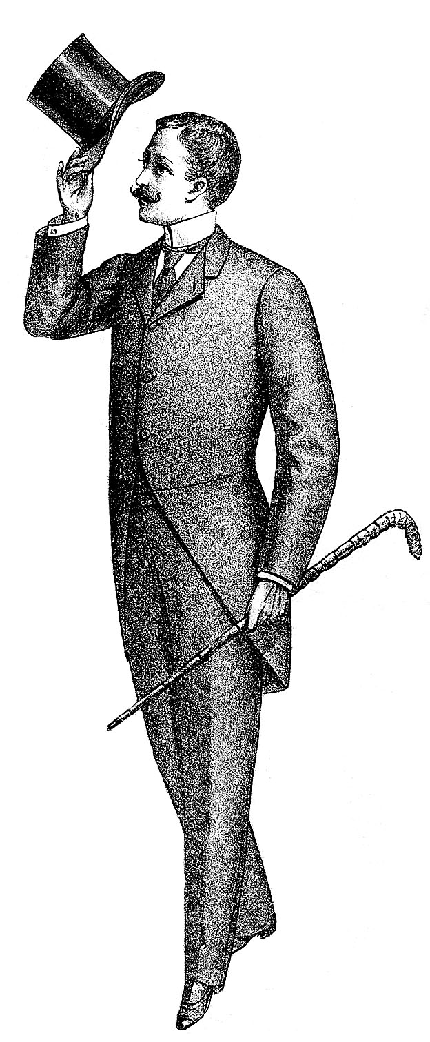 Victorian man clipart welcome.