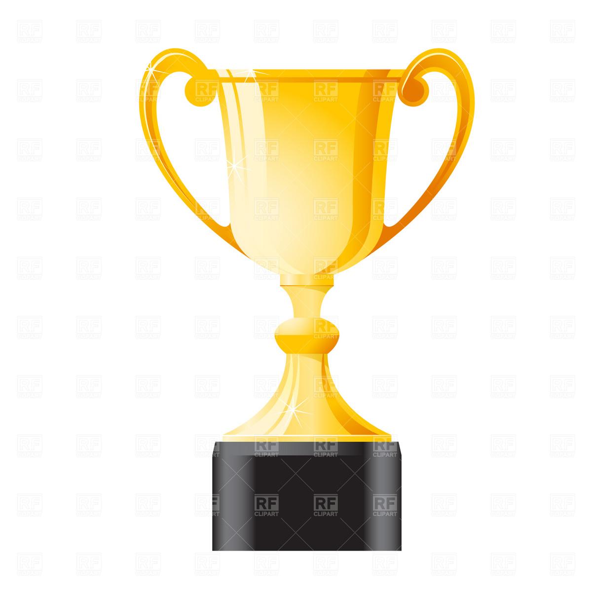 Golden trophy.