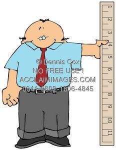 Clipart Illustration: Measure Man.