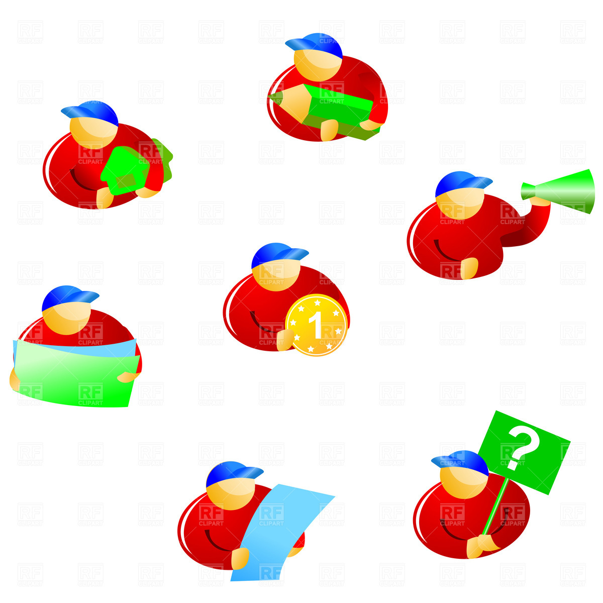 Advertising icons Vector Image #1807.