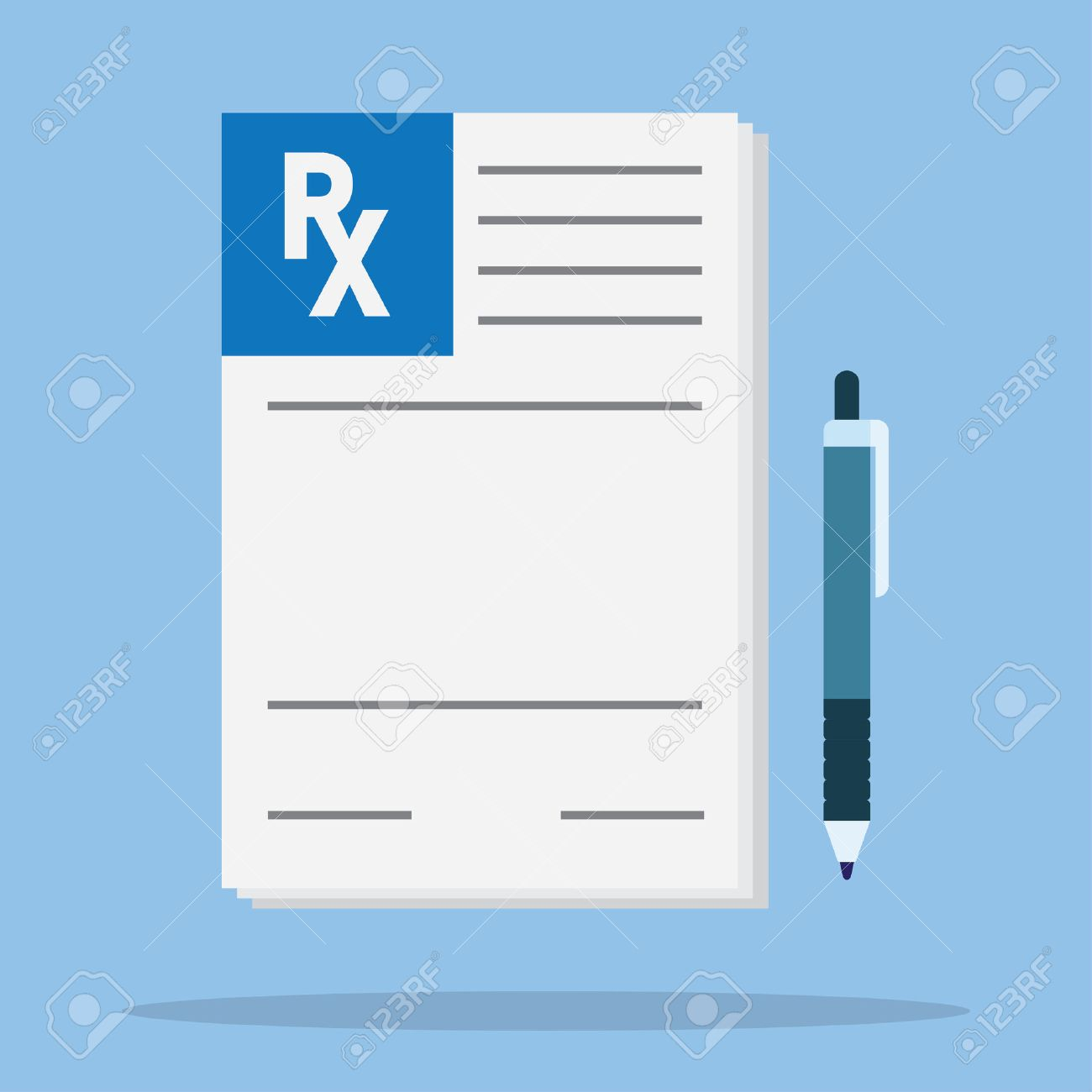 1,807 Prescription Paper Cliparts, Stock Vector And Royalty Free.