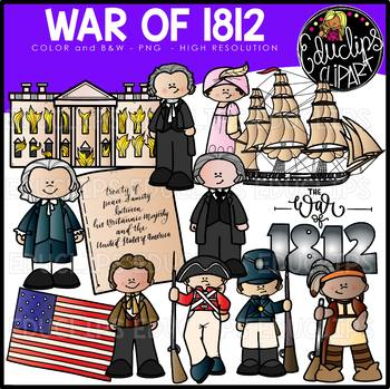 The War Of 1812 Clip Art Set {Educlips Clipart}.