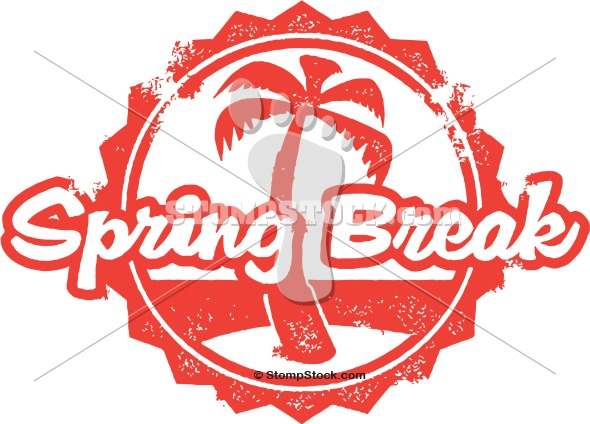 Spring Break Vector ClipArt.