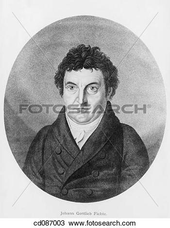 Stock Photo of Johann Gottlieb Fichte, german philosopher (1762.