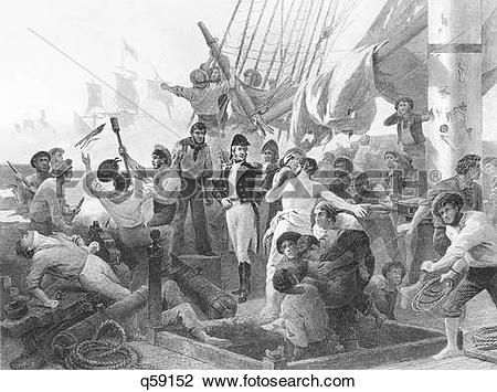 Stock Photo of September 1814 Captain Mcdonough Victory Battle Of.