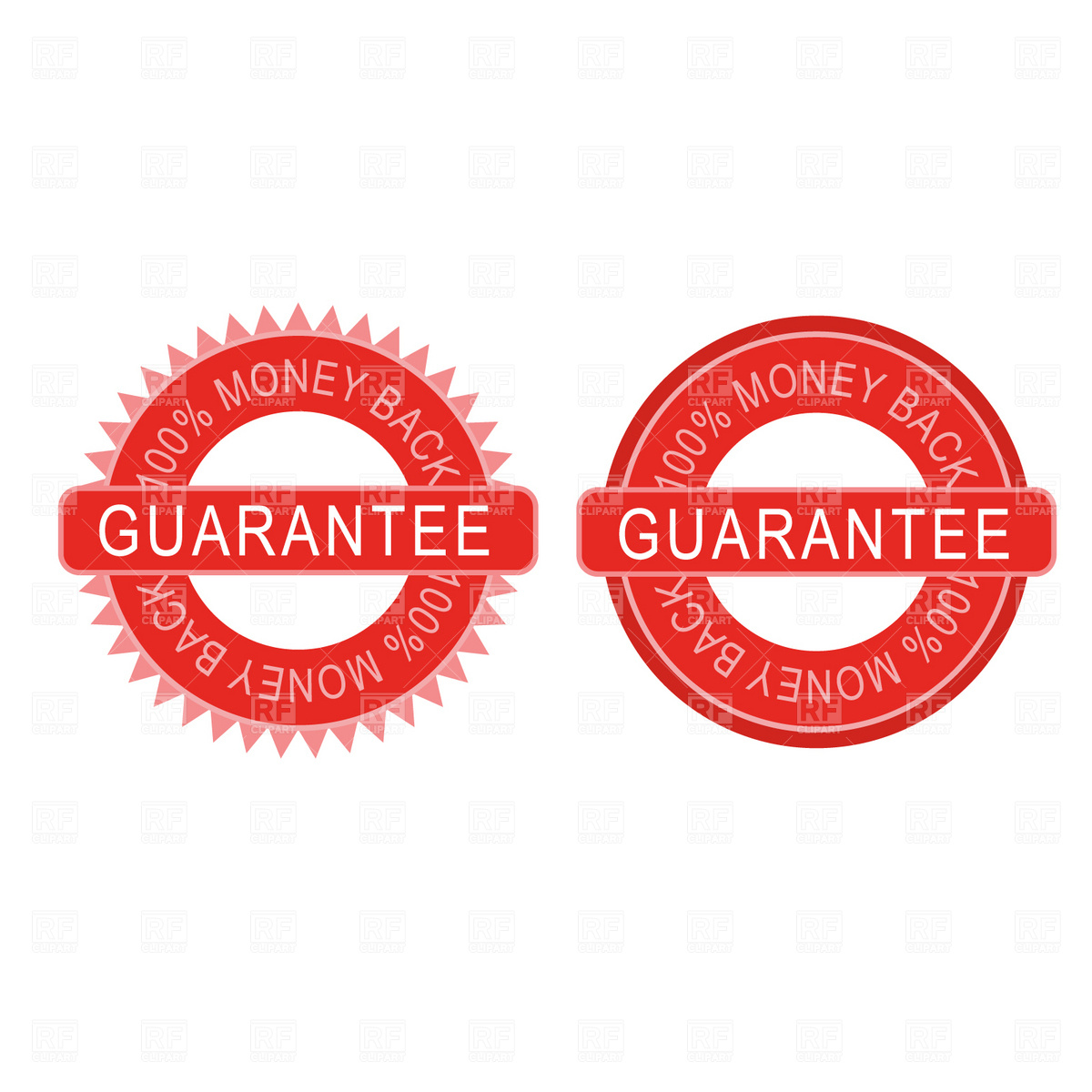 Guarantee badges Vector Image #1814.