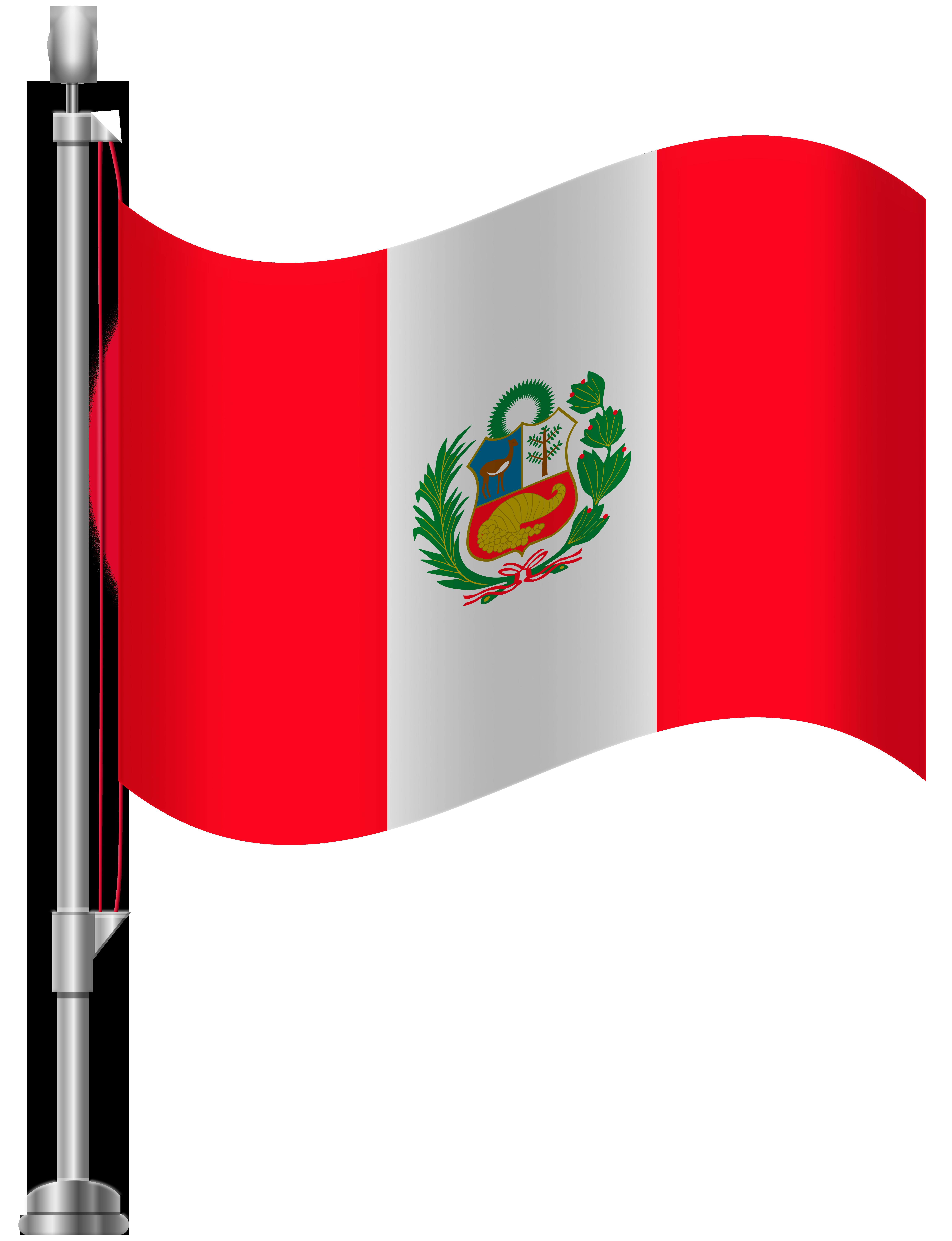 Peru Flag PNG Clip Art.