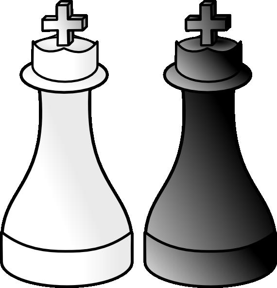 Black And White Kings Clip art.
