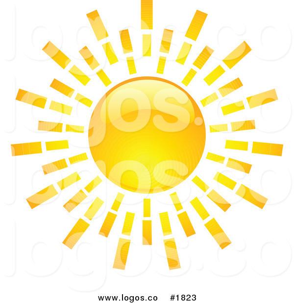 Royalty Free Bright Orange Hot Summer Sun Design Logo by KJ.
