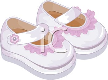 Image of a Pair of Toddlers Shoes In a Vector Clip Art.