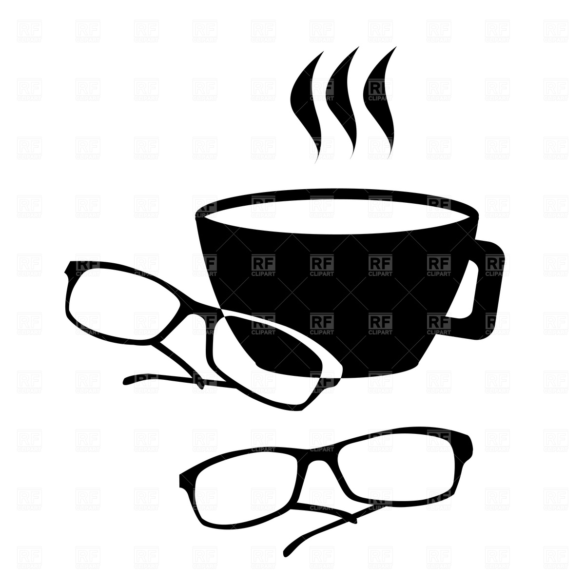 Spectacles and coffee icon Vector Image #1830.