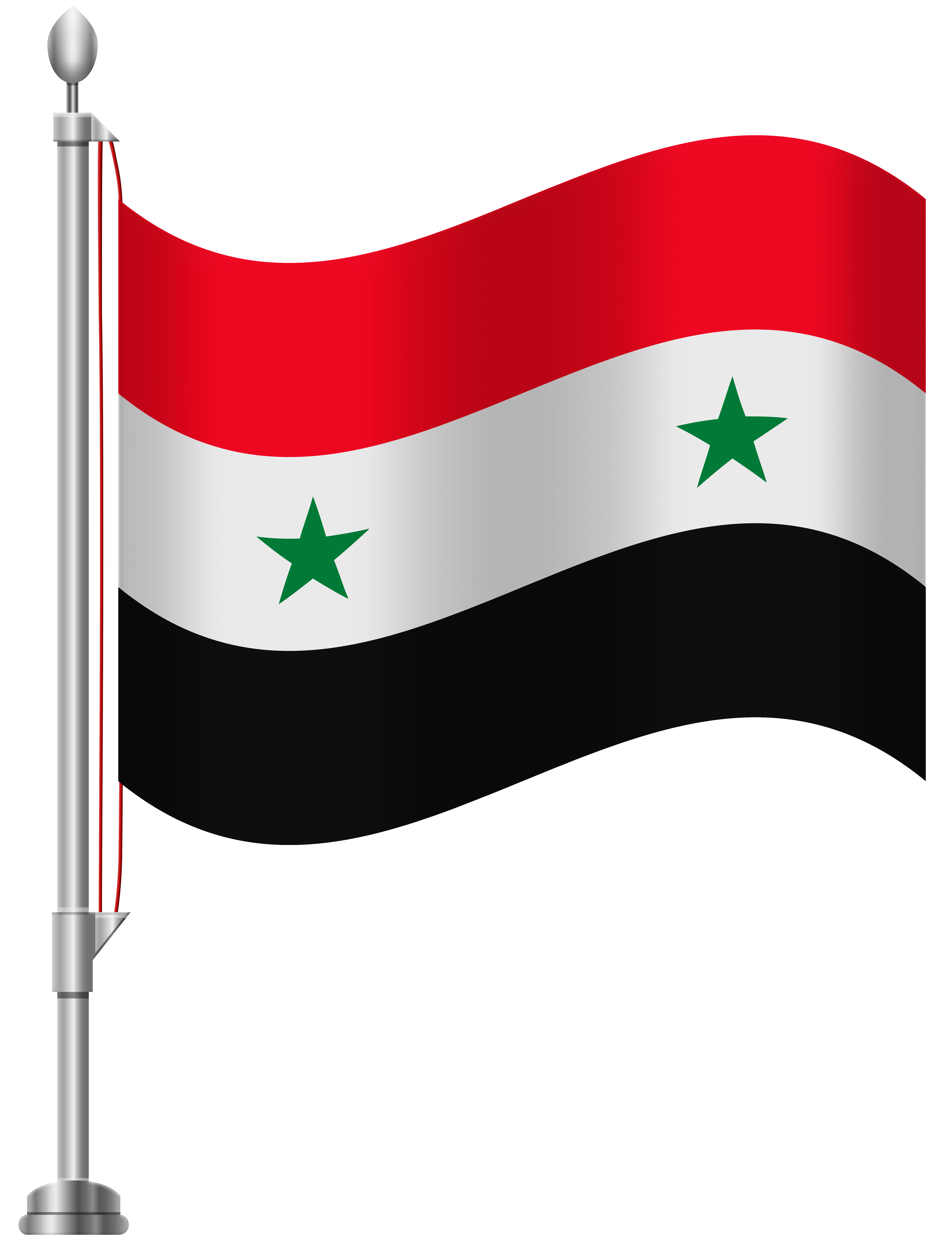Syria Flag PNG Clip Art.