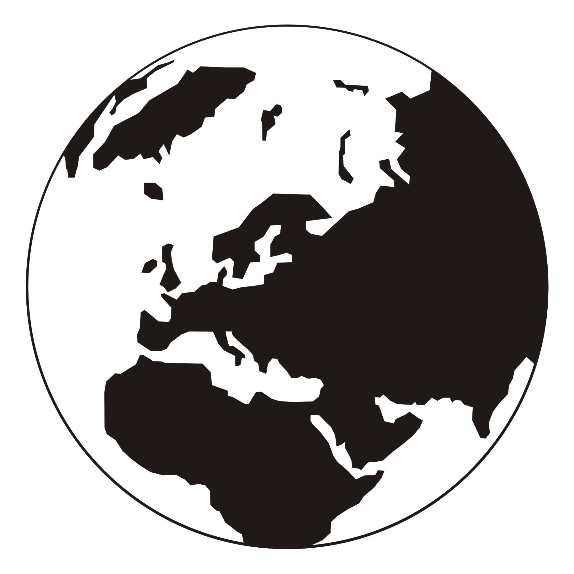 World Globe Vector Clip Art.