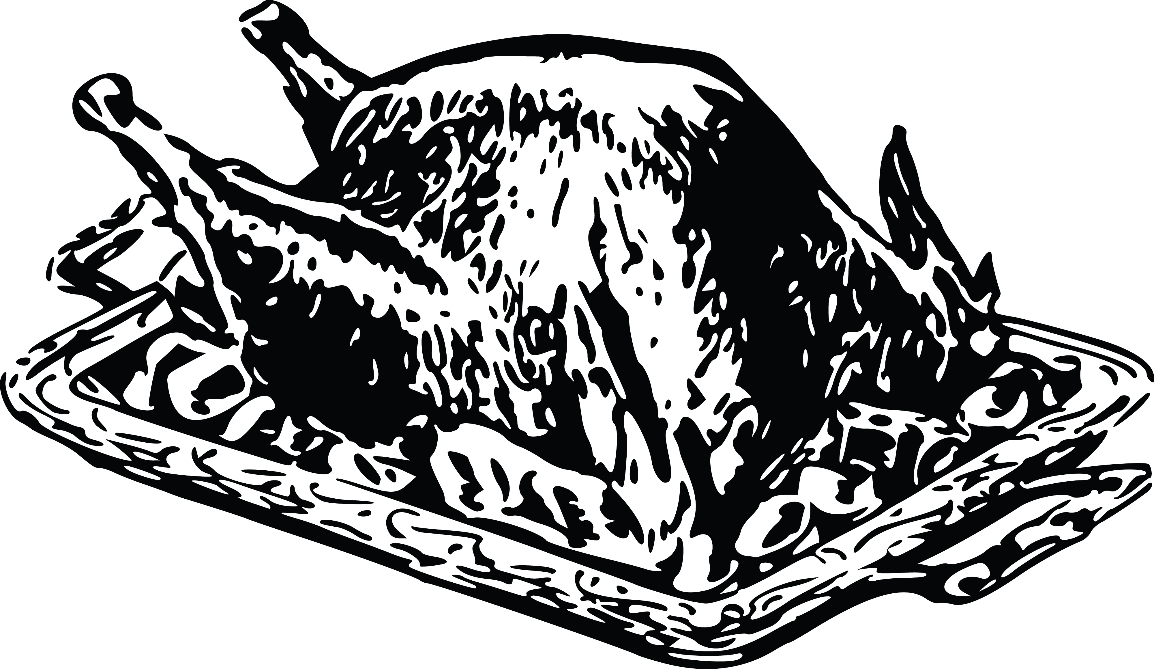 Free Clipart Of A roasted turkey.
