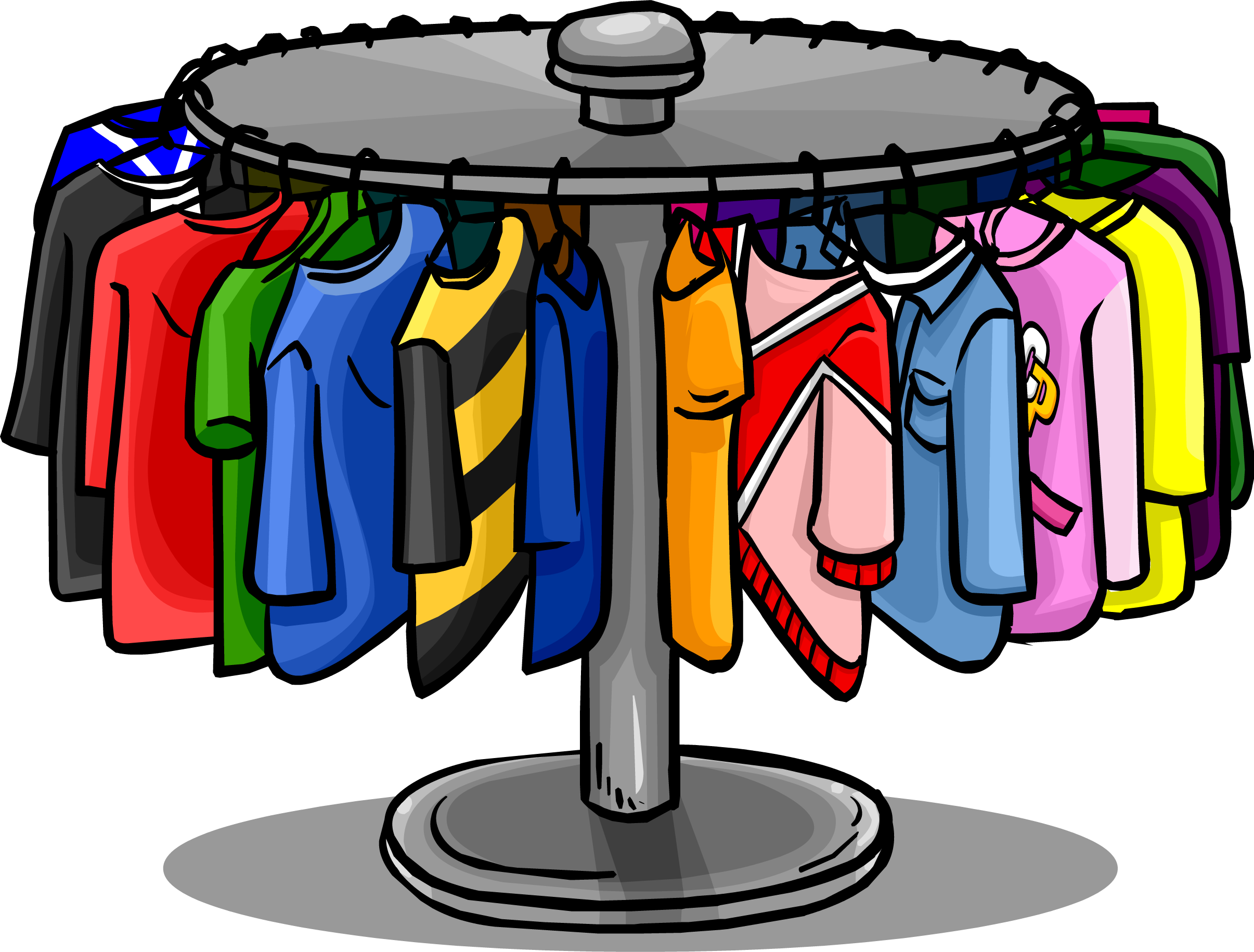Clothing Clip Art Rail.