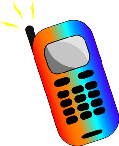 Cell Phone Clipart Image.