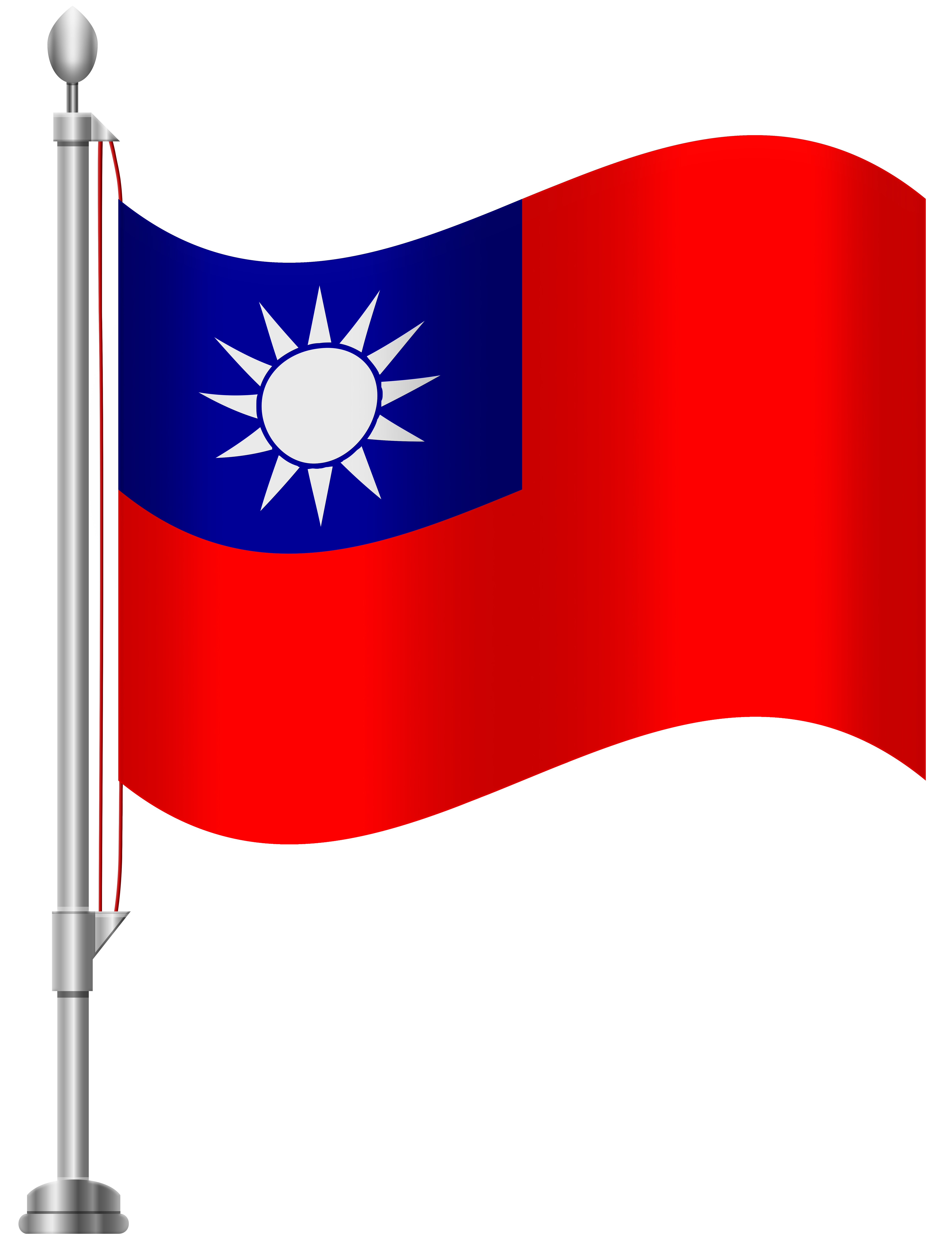 Taiwan Flag PNG Clip Art.