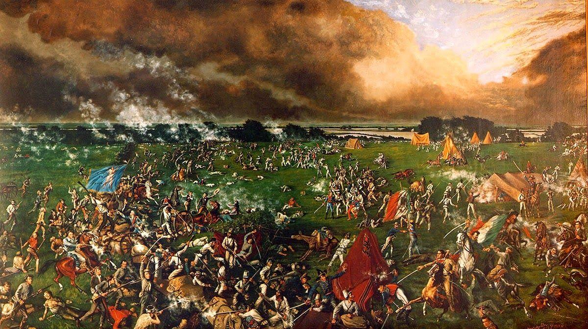 Texas Battle of San Jacinto Public Domain Clip Art.