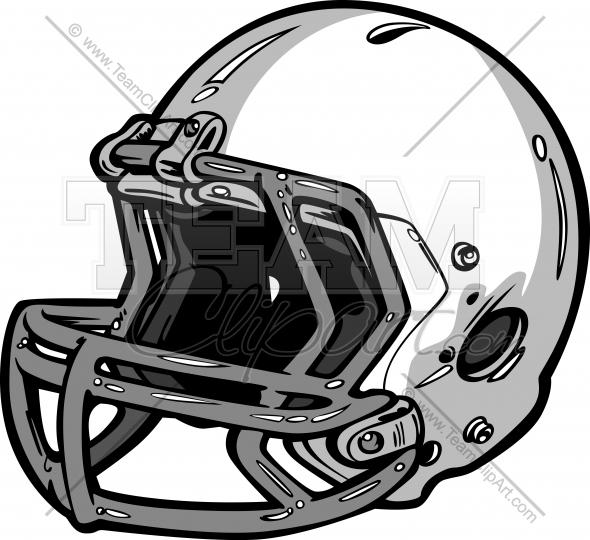 Football Helmet Vector Clipart Illustration.