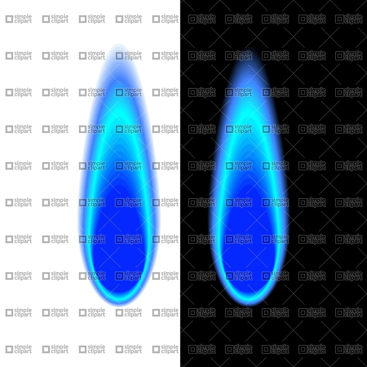 Blue gas flame Vector Image #1837.