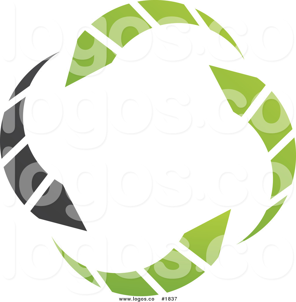 Royalty Free Green and Black Circle Arrow Logo by cidepix.