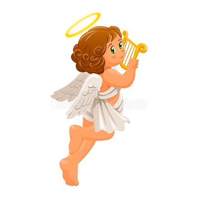 Image of Angel Clipart #1839, Christmas Angel Clip Art Free Cherub.