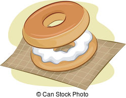 Bagel Illustrations and Clipart. 1,839 Bagel royalty free.