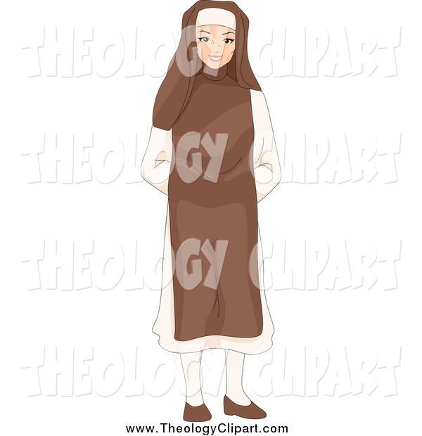 Clip Art of a Friendly Young Nun by BNP Design Studio.