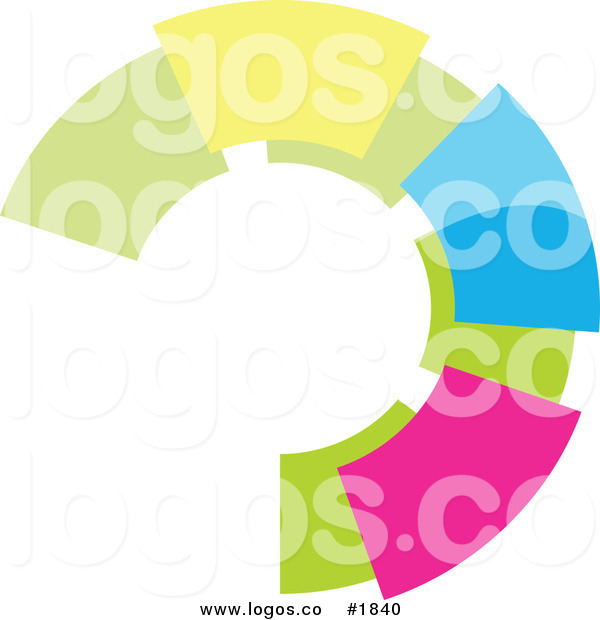 Royalty Free Colorful Circular Logo by KJ Pargeter.