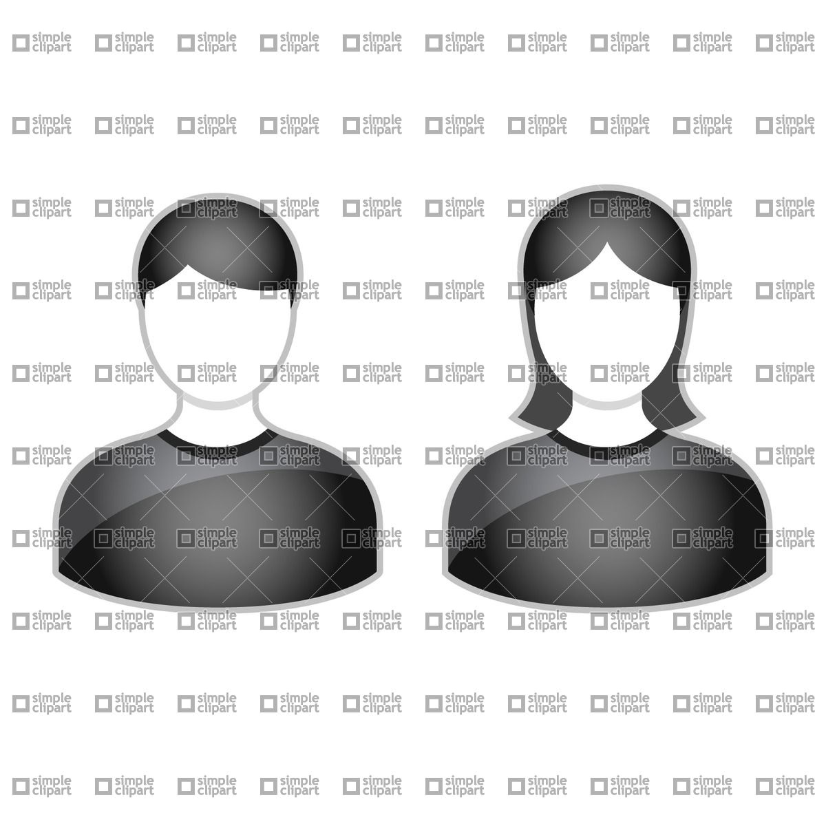 Simple people avatars Vector Image #1840.