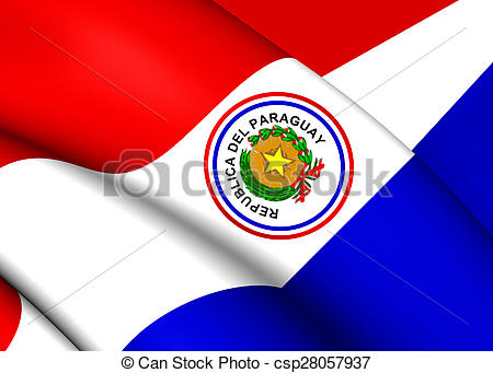 Drawings of Flag of Paraguay (1842.