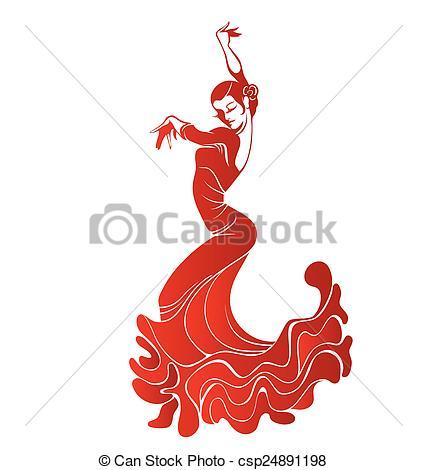 Flamenco Tanz Clipart.
