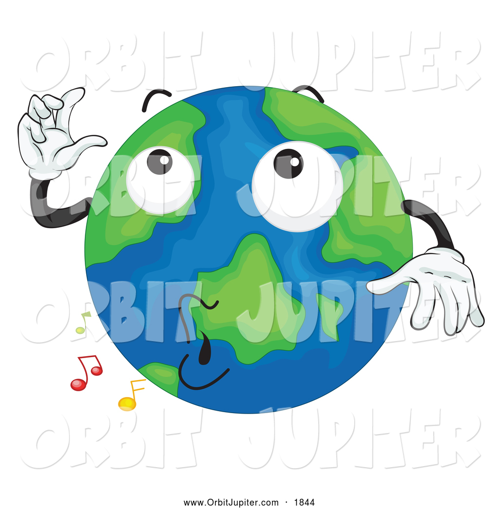 Illustration of a Whistling Earth Mascot by colematt.