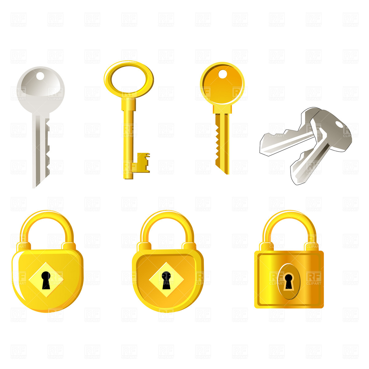 Locks and keys Vector Image #1845.