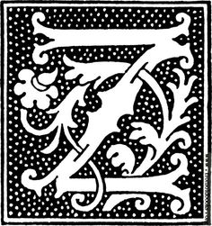 clipart: initial letter J from beginning of the 16th Century.