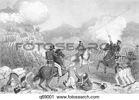 Stock Photography of 1840S September 1847 American Troops Storming.