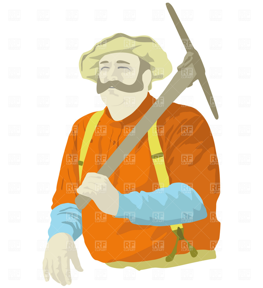 Miner with pick Vector Image #1847.
